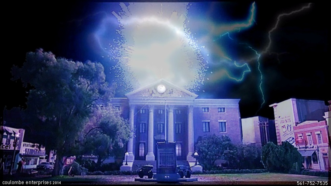 Clock Tower struck by lightning Back to the Future Doc Brown Marty McFly