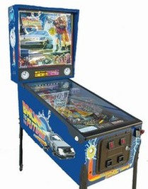 Back to the Future Pinball Delorean Doc Brown Time Machine Rental Marty McFly